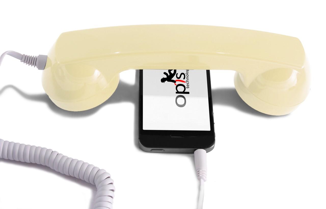 Opis 60s micro Retro//Vintage Hörer//Handset//Headset für Handy//Computer blau